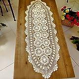 kilofly Handmade Crochet Cotton Lace Table Runner