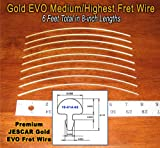 Guitar Fret Wire - Jescar Gold MEDIUM/HIGHEST Size - Six Feet