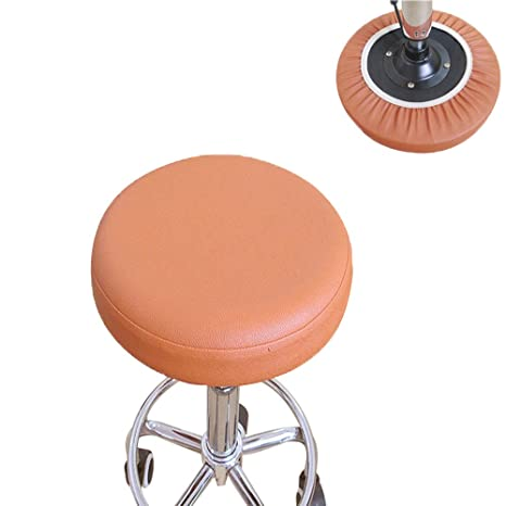 Miraculous Bar Stool Cover For Kitchen Pub Exam Office Easy Slip On Vinyl Replacement Seat Top With Extra Thin Padding Elastic Band 15 Inch Diameter Andrewgaddart Wooden Chair Designs For Living Room Andrewgaddartcom