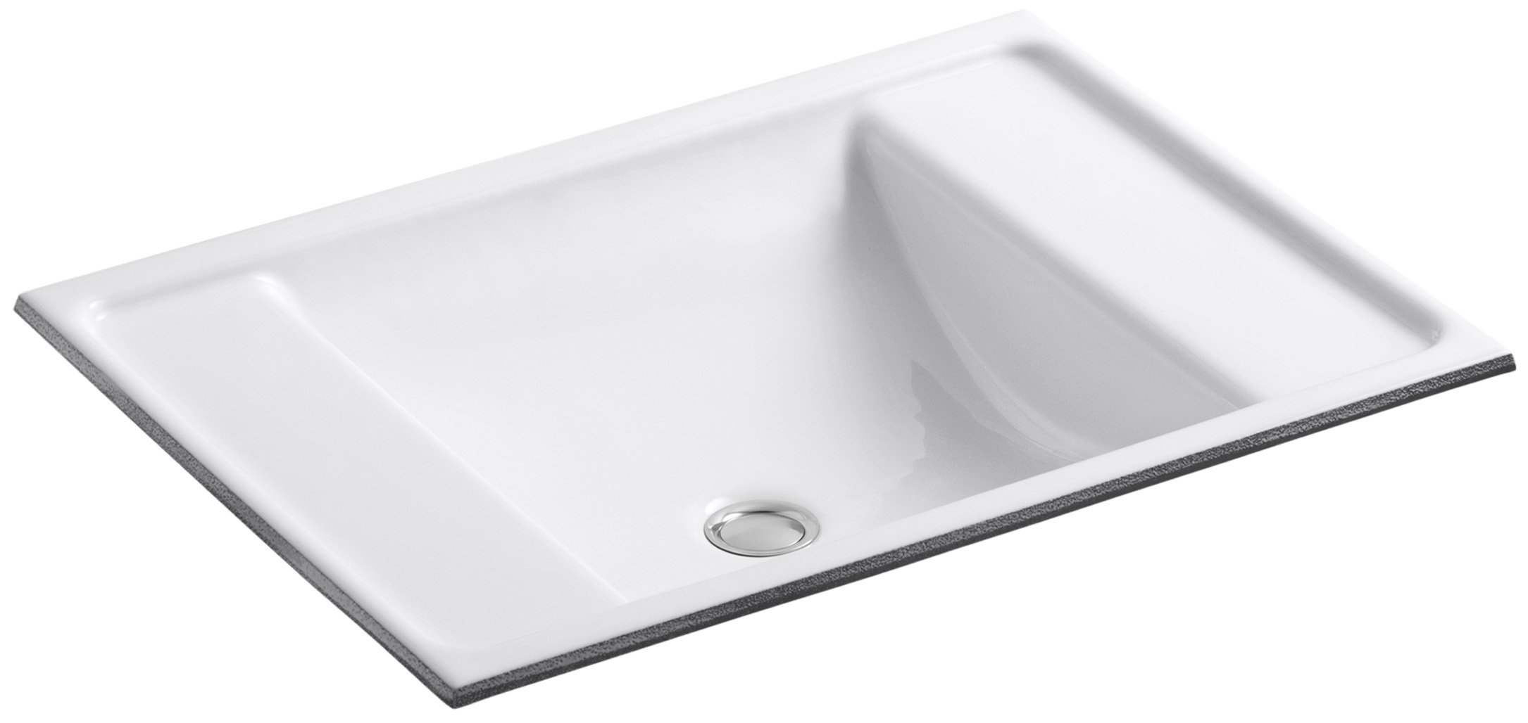 KOHLER K-2838-0 Ledges Undercounter Bathroom Sink, White by Kohler