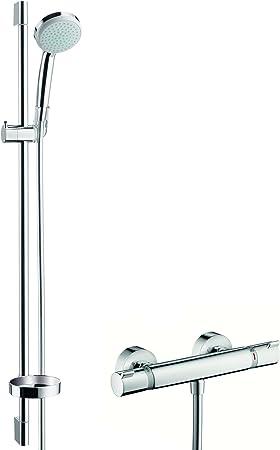 Hansgrohe 27033000 Croma 100 Vario set de ducha con termostato, 0 ...