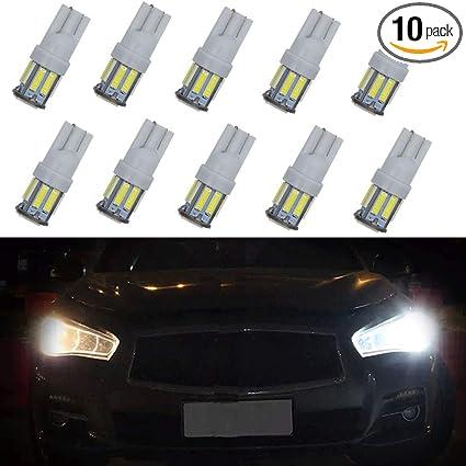 License Plate Lamp White Car Bulbs LED Light T10  W5W 2825 158 192 168 194