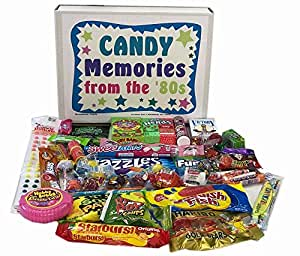 Retro Nostalgic 1980s Candy Gift Box - Memories of Life From the '80s Decade