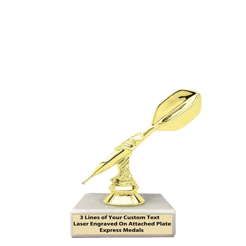 エクスプレス メダル 2位 3位 受賞歴のあるチャンピオンダーツ トロフィー 1パック50個入り 本物の大理石ベース 刻印プレート付き 32 B07KV5XLBL  1