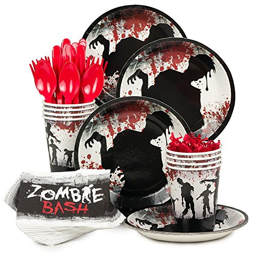 1 X Zombie Party Standard Kit (Serves 8) (Zombie Decorations Ideas)