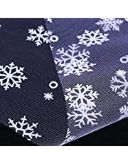 NIKOLay Snowflake Ribbon Lace Christmas Tulle Roll Ribbon Wedding Halloween Party Gift,Light Purple