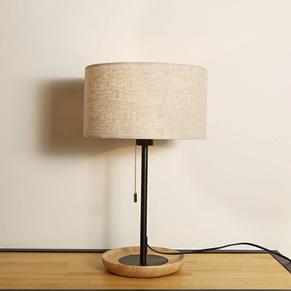 Wooden Table Lamp Nordic Simple Creative Student Children Desk Desk Lamp Bedroom LED Bedside Lamp Decorative Set Energy Saving Desk Lamp by Lizichun (Image #4)