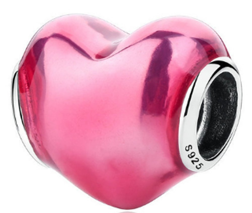 SaySure - 925 Sterling Silver In My Heart Love Charm Beads