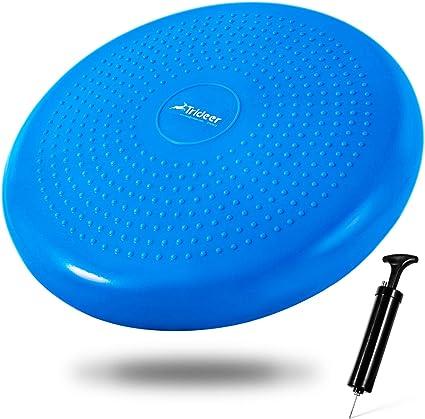 Balancekissen mit Noppenseite Sitzkissen 60 cm Durchmesser blau Cando/® Balance Disc aufpumpbar