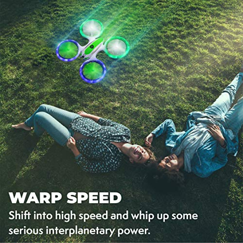 Force1 Mini Drones for Kids - UFO 3000 Small Drones for Beginners w/ 2 Kids Drone Battery Cells, Mini Quadcopter LEDs and Easy Toy Drone Remote Control