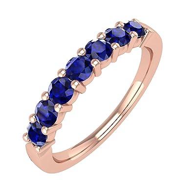10 K Gold Blau Saphir Hochzeit Jahrestag Band Ring 1 2 Karat