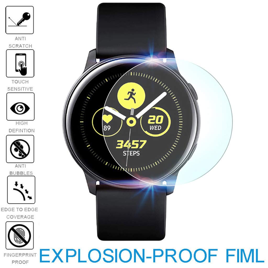 (2Pack) Tuscom Compatible Samsung Galaxy Watch Active 40mm Screen Protector, Explosion-Proof Anti Bubble TPU Screen Protector Gurad Film for Samsung Galaxy Watch Active (2Pack) by Tuscom@ (Image #5)