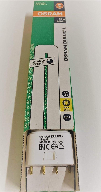 Osram 010731-18W//830 Dulux L 2G11 BASE Single Tube 4 Pin Base Compact Fluorescent Light Bulb