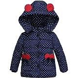 Quaan Kinder Winter Jacke Mode Kinder Mantel Baby Mädchen Dick Gepolstert Punkt Bogen Kleider Äußere Bekleidung Bär Karikatur Mit Einem Hoodie Warm niedlich beiläufig Winddicht Sport Suit