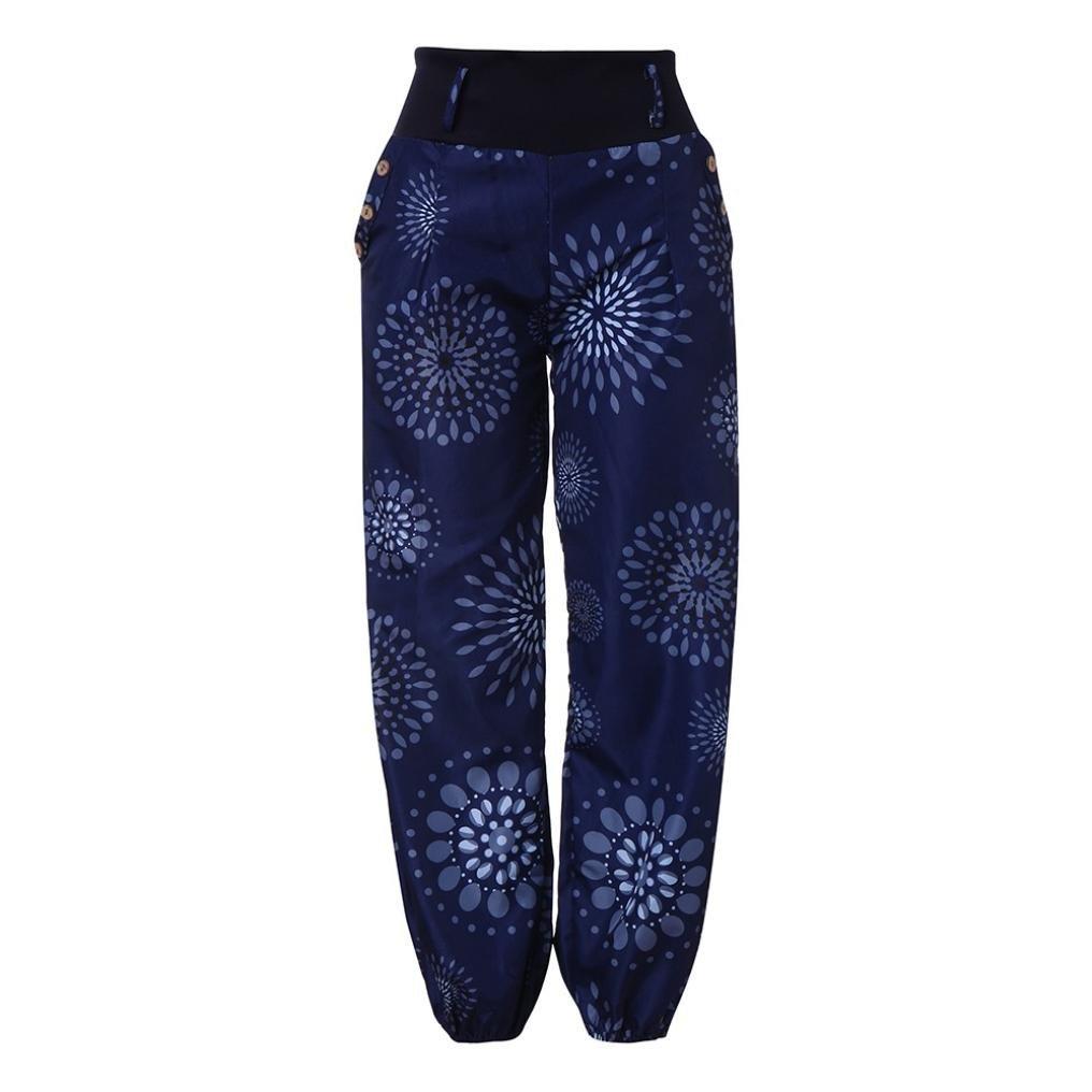 cfefdd73a4 DAYLIN Mujer Pantalones Anchos Casual Suelto Impresión Pantalones con  Bolsillo DAYLIN-2018. Ampliar imagen