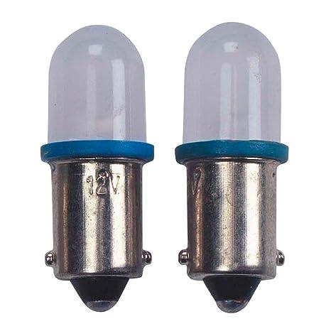 10 T de bombilla LED BA9S, 12 V, 2 unidades/tarjeta, Azul