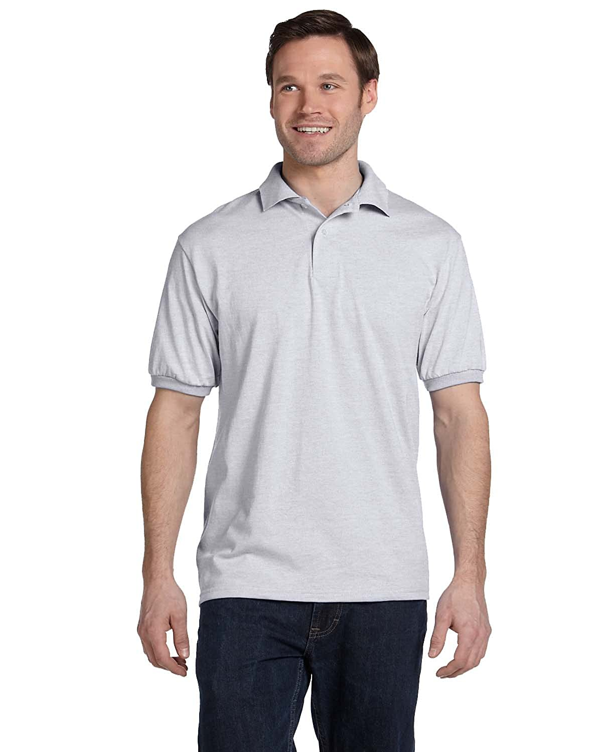 Polo Cotton-Blend EcoSmart & reg hombre Jersey ComfortSoft mediano ...