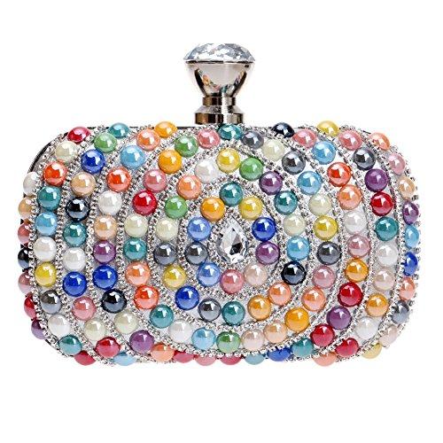 HKC Taladro de Gota de Agua Lady Bag Luxury Banquet Bolso de Noche Nupcial Bolso de Mano Hermosa de la Manera de Las Mujeres (Color : 2) 1