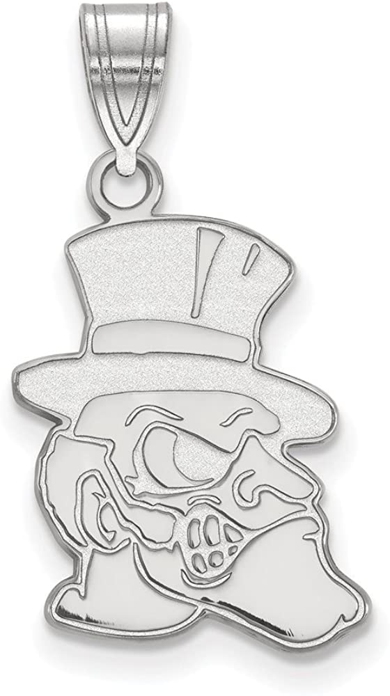 Solid 925 Sterling Silver Official Wake Forest University Large Pendant Charm 25mm x 13mm