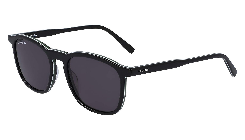 Lacoste L901s Rectangular Sunglasses Black White Green 52.18 mm