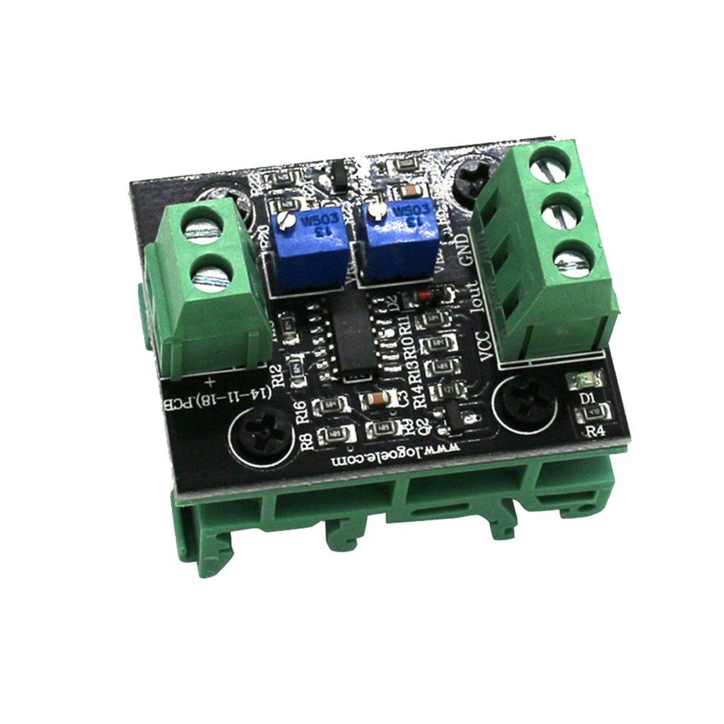 MagiDeal 1 St/ück Spannung zum Strom Modul Wandler Spannung auf Strom Signal Signalstrom Umwandler DC 12-24V 0-15V zu 4-20ma