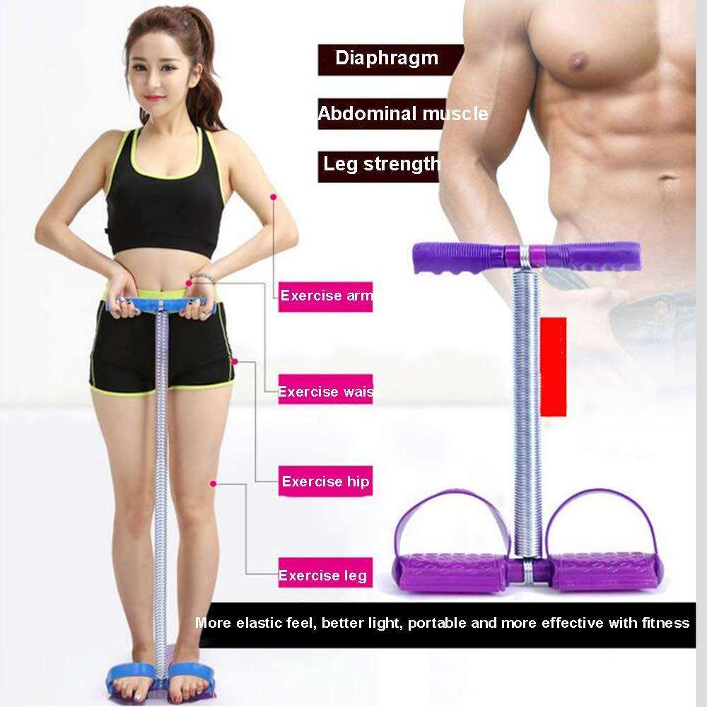 Elastic Sit Up Pull Rope Lychee Spring Tension Rope Foot Pedal Abdomen Exerciser