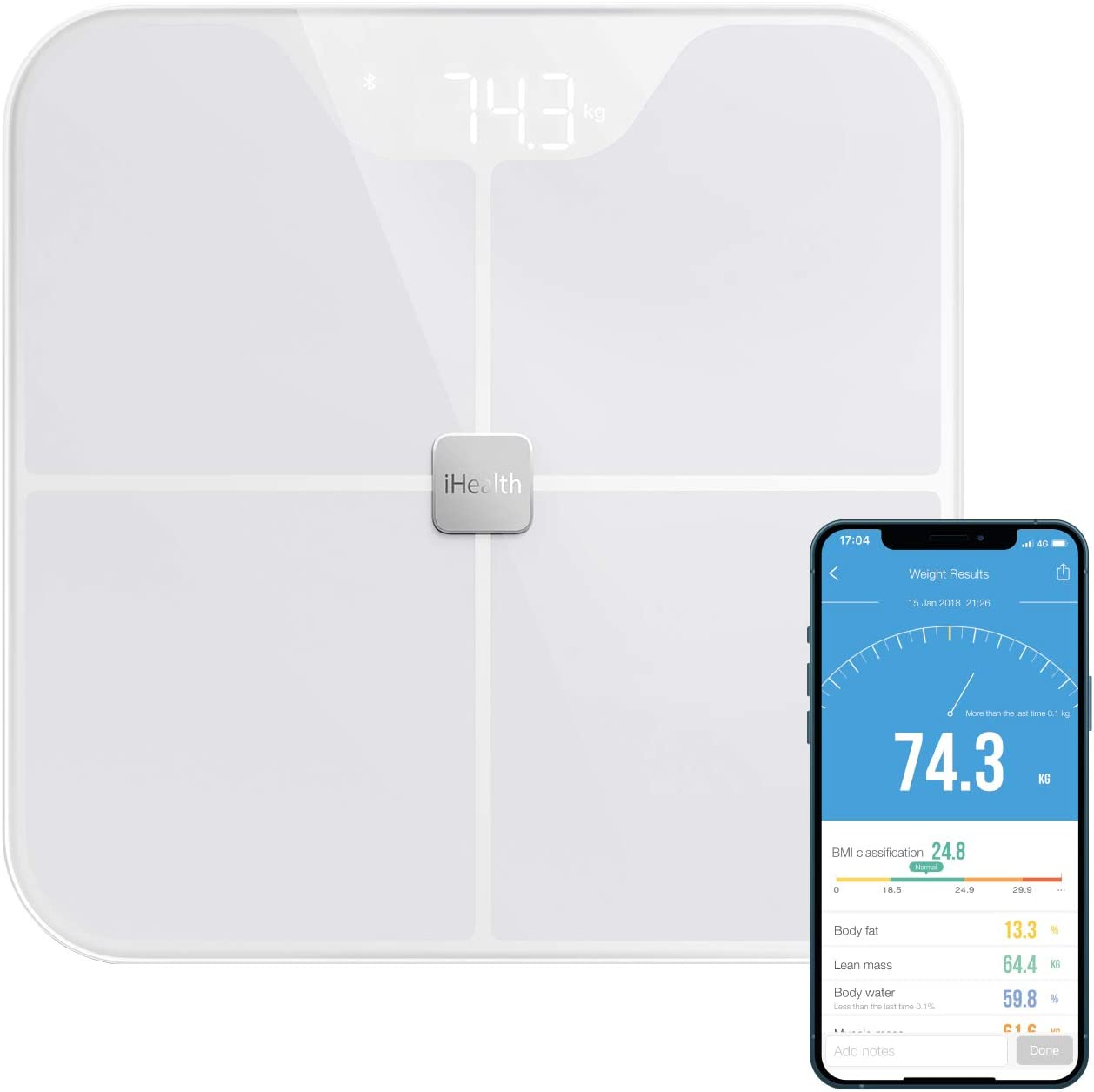 iHealth Fit Balance Körperanalyse, vernetzt, 1 Stück: Amazon.de: Drogerie &  Körperpflege