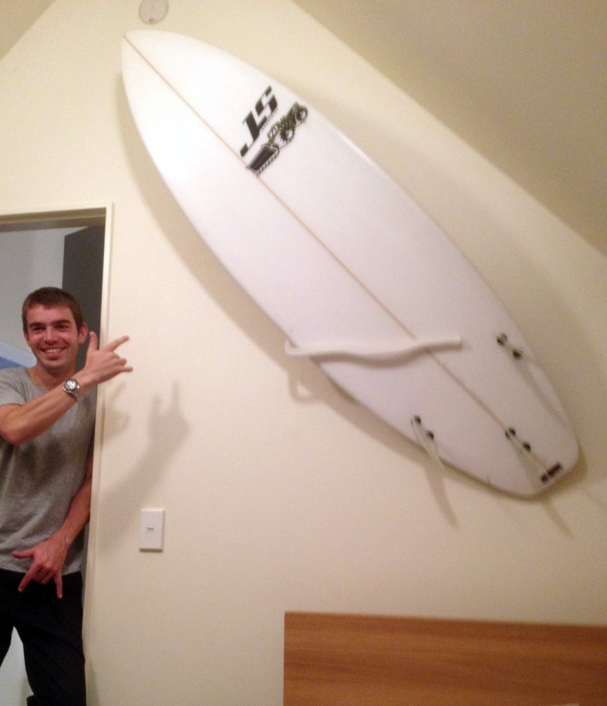 Surfboard Wall Mount With Multiple Display Options , A Knockout Wall Feature. by Mount-It!