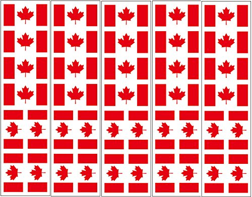 40 Tattoos: Canada Flag, Canadian Party Favors -