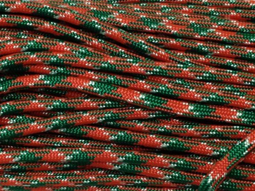 100FT Type III Holly Jolly Paracord 550 Parachute Cord 7 Strand Made In USA