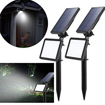 LED Solar proyector, exterior solar de jardín foco lámpara solar ...
