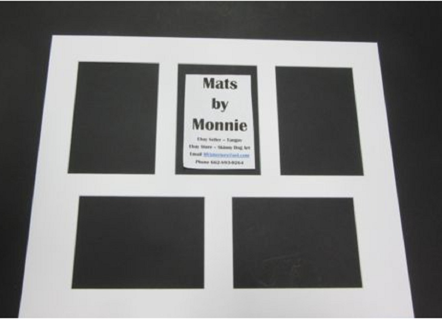 USA Premium Store Picture Framing Mat 16x20 Purewhite with 5 openings for 5x7 photos set of 5