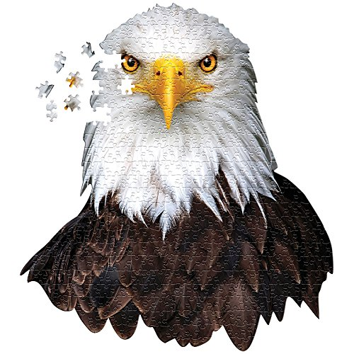 Majestic Image Bald Eagle Head Shaped 550 Piece 27 X 30 Inch Jigsaw Puzzle