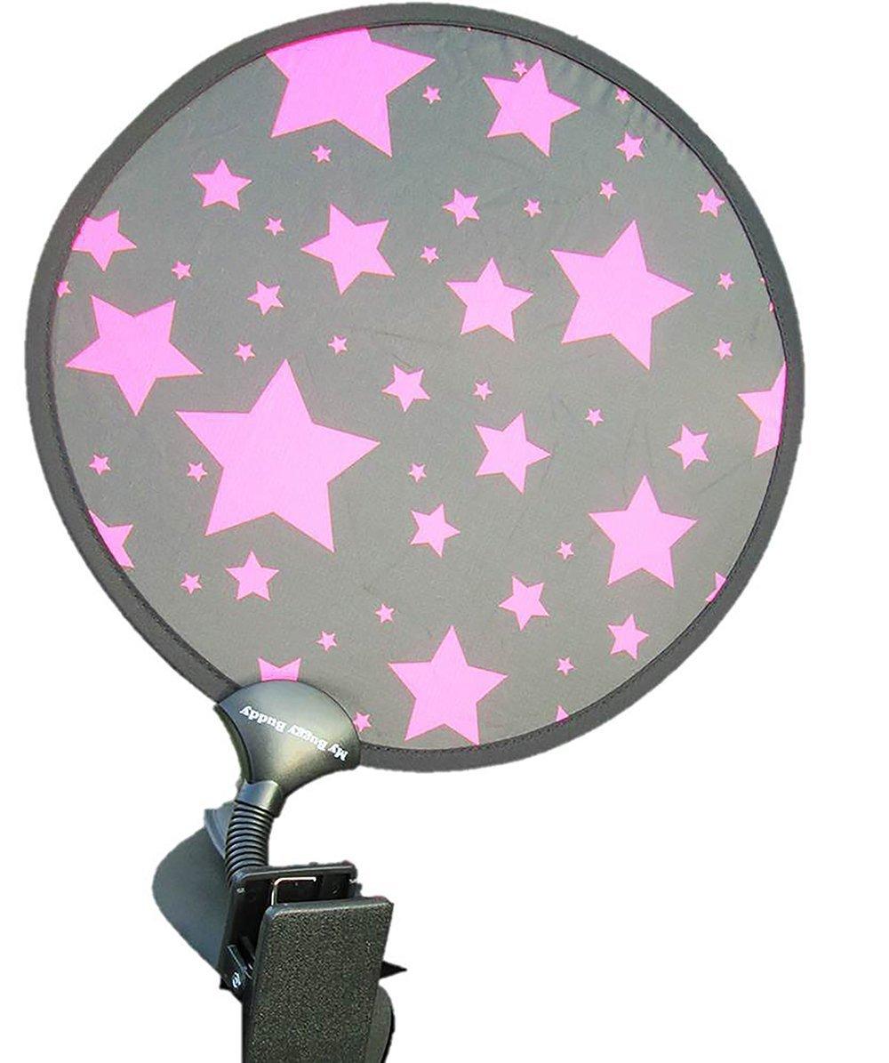 My Buggy Buddy–Parasol, diseño de estrellas, color rosa My Buggy Buddy-Parasol MBBSHADEPKSTAR