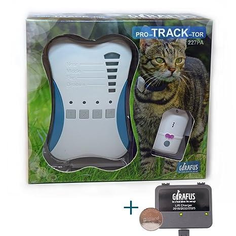 Rastreador de Mascotas Mini Girafus® Pro-Track-Tor Localizador con Ondas de Radio