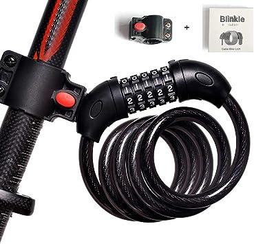 Blinkle - Candado para Bicicleta de 5 dígitos (1,2 m x 12 mm ...