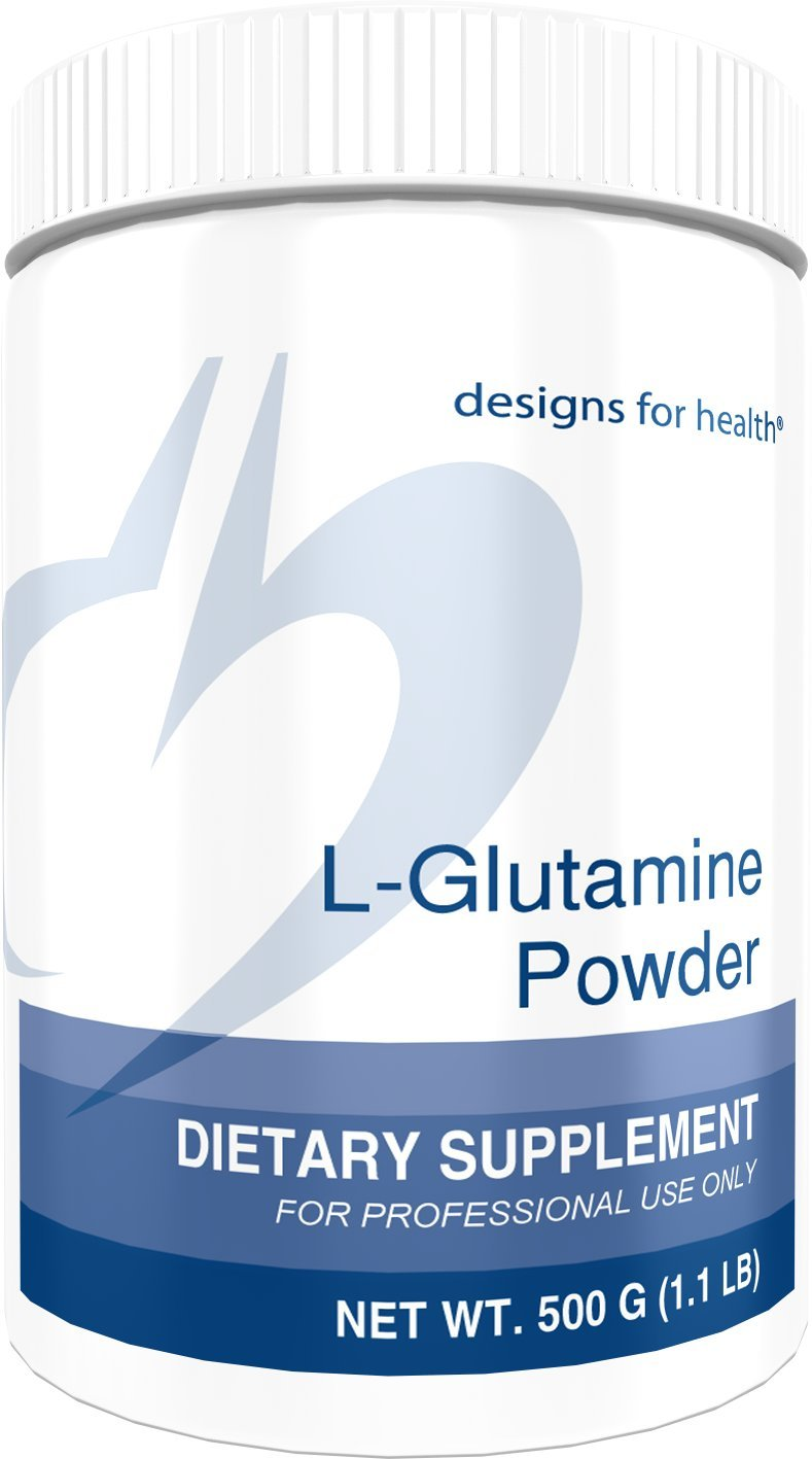 Designs for Health L-Glutamine Powder 3000mg - Amino Acid for Gut + Immune Support (166 Servings / 500g) by designs for health