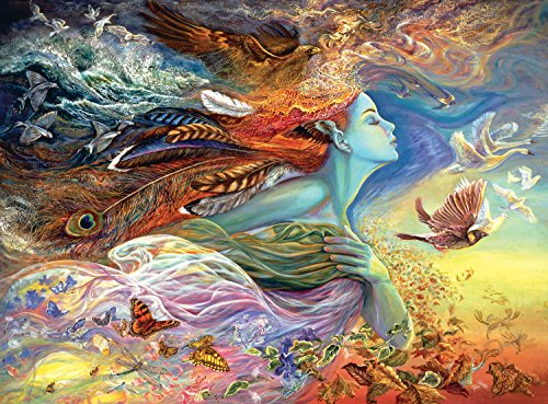Adult Puzzle (Buffalo Games Josephine Wall - Spirit of Flight - Glitter Edition - 1000 Piece Jigsaw Puzzle)