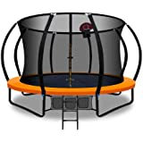 Everfit Trampolines 12-Feet Jump N' Dunk Trampoline with Safety Enclosure and Basketball Set