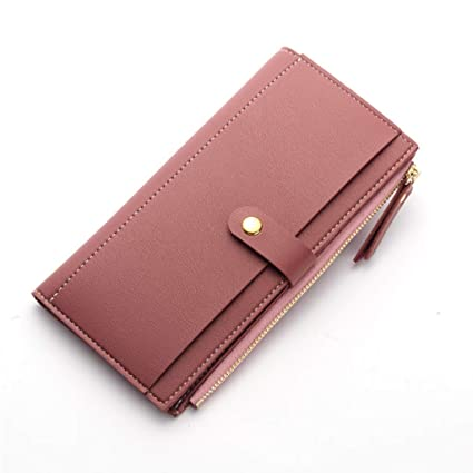 0792982047d Zmsdt Billetera para Mujer Moda Hebilla Billetera De Cuero Billetera para  Mujer Bolso Clutch Billetera para