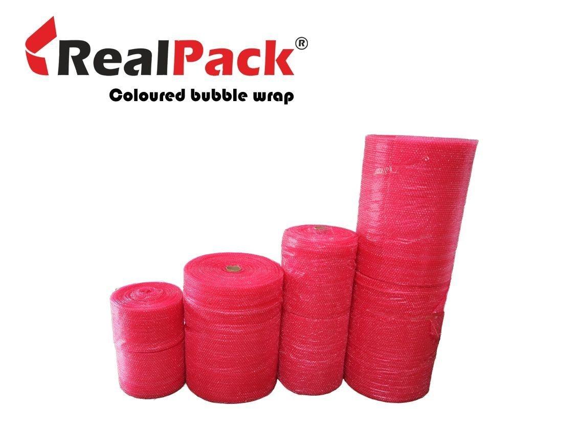 Realpack 1 x rotolo –  antistatico rosso pluriball Dimensioni: Largo 500 mm x 10 m Ideale per proteggere oggetti durante il trasporto, di Electrostatic Free REALPACK® REALPACK500x10RED-SMALL