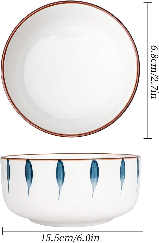 Teller-Set aus Porzellan Premium Runde Geschirrset mit Sch/üsseln Geschirrservice f/ür 4 Personen CSYY Geschirr Set aus Steingut 8 teilig Essteller,Blau und Wei/ß