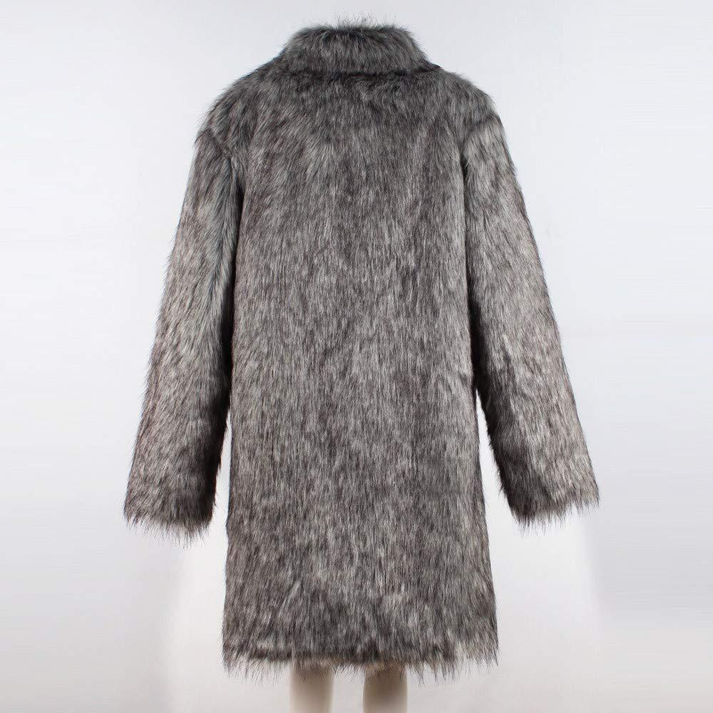 ZODOF Chaqueta de Hombre Chaqueta Gruesa de Invierno para Hombre con Cuello en V Gruesa Abrigo Chaqueta de Piel sintética Outwear: Amazon.es: Ropa y ...
