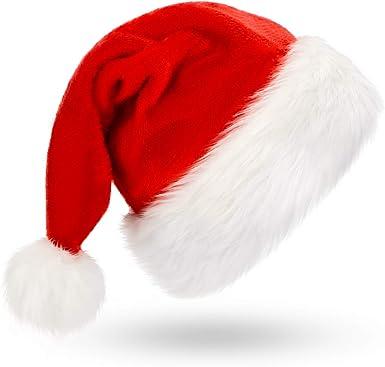 Christmas Santa Claus Caps Unisex Xmas Decoration Family Party Hats Holiday Gift