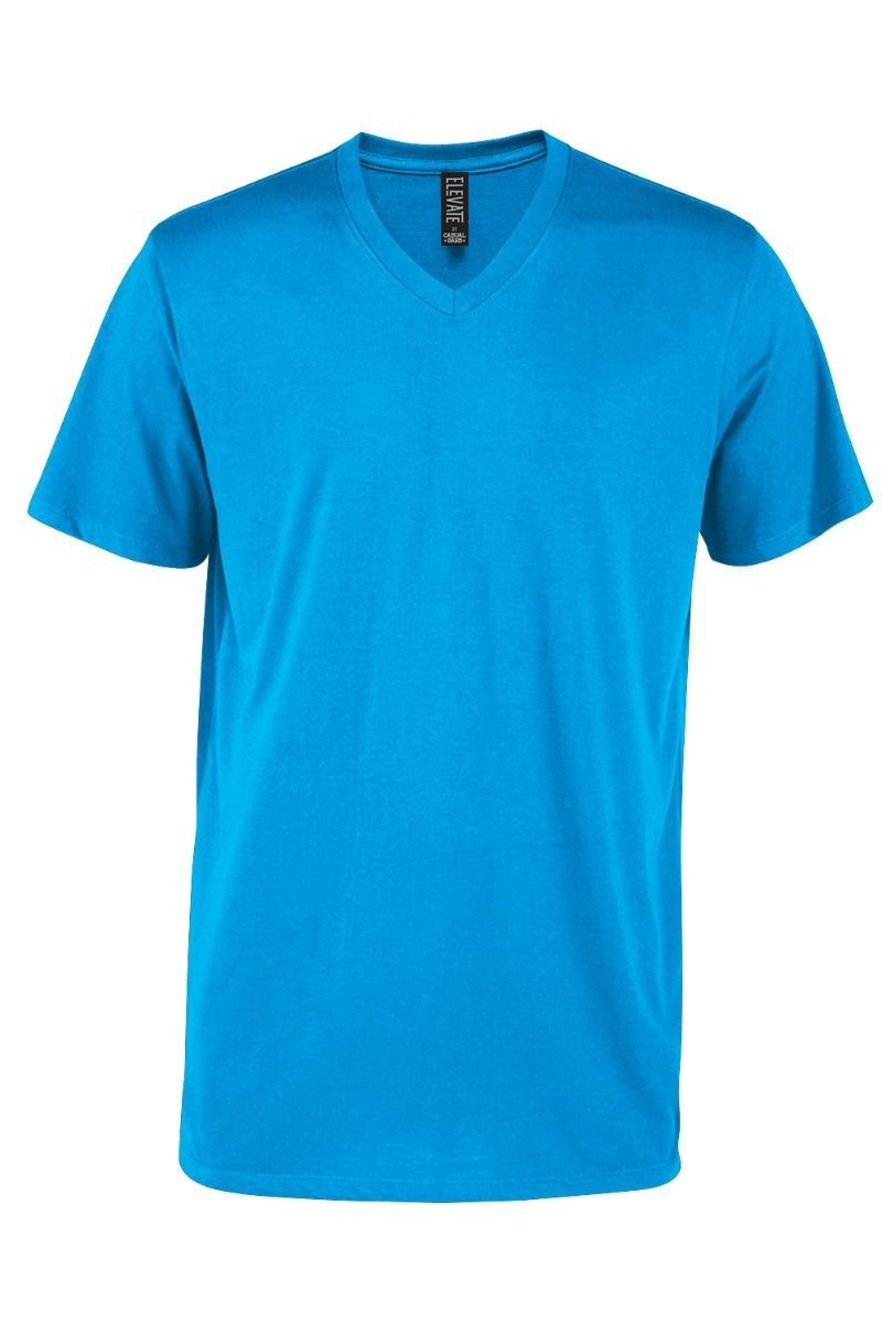 Casual Garb Men's V-Neck T Shirt Short Sleeve Tee T-Shirts for Men Elevate Series Turquoise X-Large