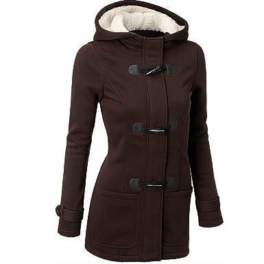 OSYARD Dégagement Manteau Femme Hiver Chic Coton Blouson Chaud Grande  Taille Laine Manches Longues avec Capuche 1585c9bbbda