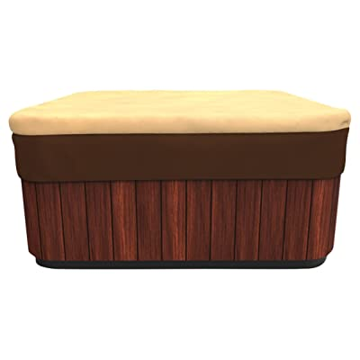 Budge All Seasons Square Hot Tub Cover, Large (Khaki Brown) : Garden & Outdoor