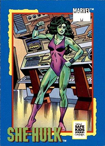 1991 Trading Card Treats National Safe Kids Campaign #17 She-Hulk Marvel