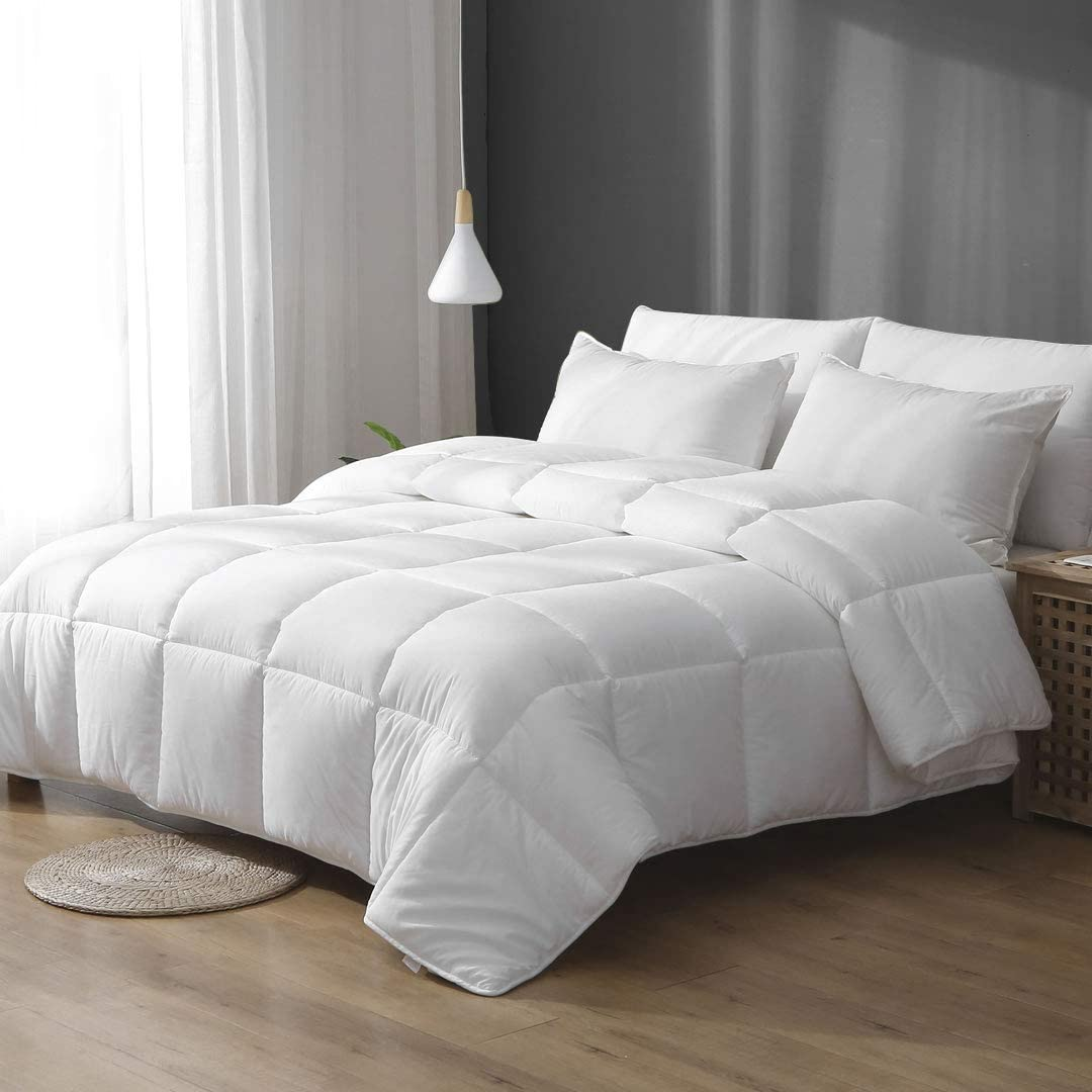 Ultra-Soft 100/% Quick-Dry Cotton Quilted APSMILE All-Season White Down Alternative Comforter Breathable Plush Cooling Performance Microfiber Duvet Insert or Stand-Alone Comforter Full//Queen