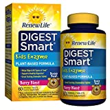 Renew Life - Digest Smart Kids Enzyme - digestive support - plant-based enzyme - 60 chewable Berry flavor tablets